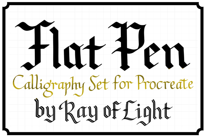 Flat Pen Calligraphy Set