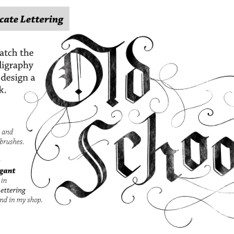 Intricate lettering on iPad is made possible with a variety of interesting looks to choose from.
