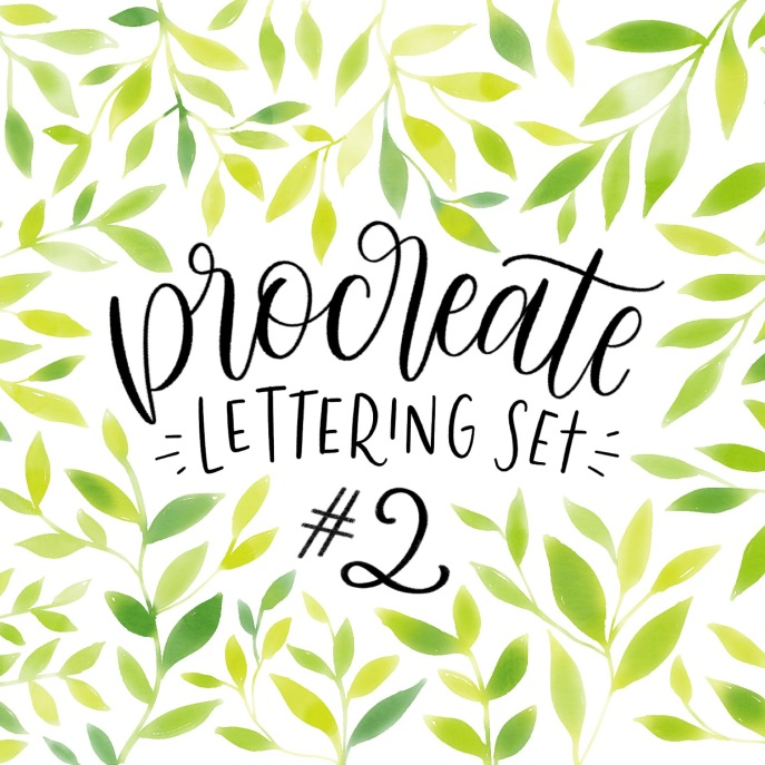 Procreate Lettering Set 2